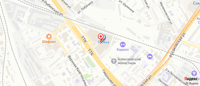 Карта расположения пункта доставки Москва Красносельская Верхняя в городе Москва