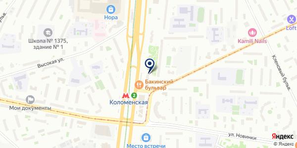 Магазин кондитерских изделий на карте Москве