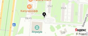 Стрела на карте Москвы