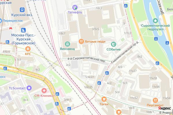 Ремонт телевизоров 4 й Сыромятнический переулок на яндекс карте