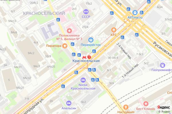 Ремонт телевизоров Метро Красносельская на яндекс карте