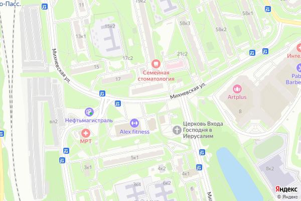 Ремонт телевизоров Улица Михневская на яндекс карте