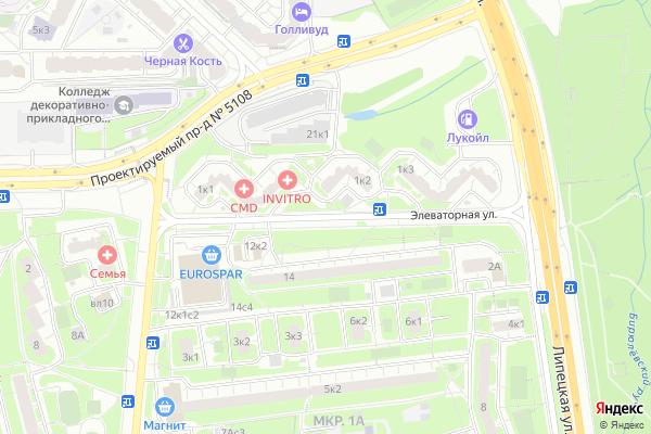 Ремонт телевизоров Улица Элеваторная на яндекс карте