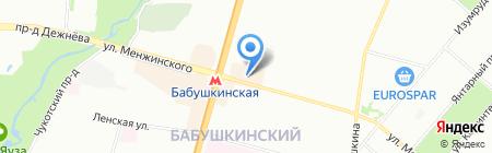 Женская одежда на карте Москвы