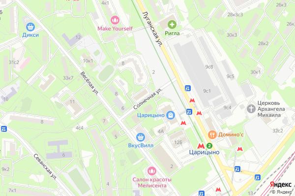 Ремонт телевизоров Улица Солнечная на яндекс карте