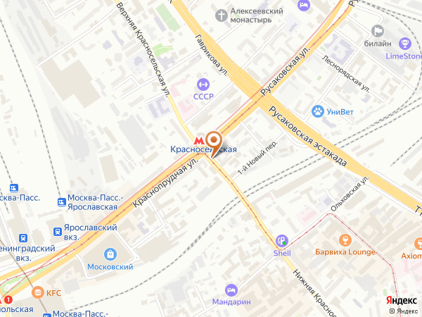 Остановка «Метро Красносельская», Нижняя Красносельская улица (10605) (Москва)
