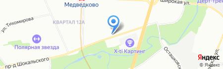 Ателье на проезде Шокальского на карте Москвы