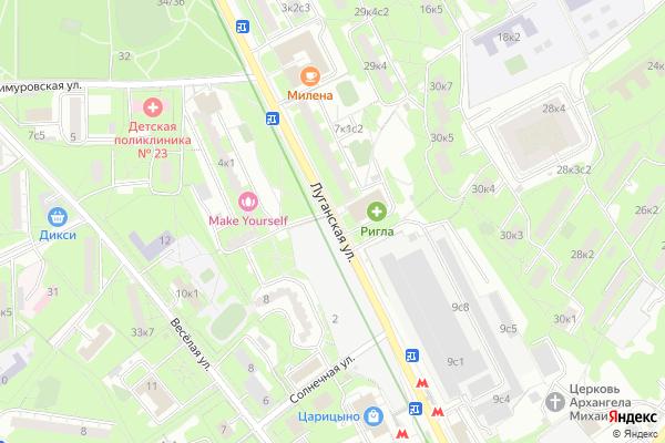 Ремонт телевизоров Улица Луганская на яндекс карте