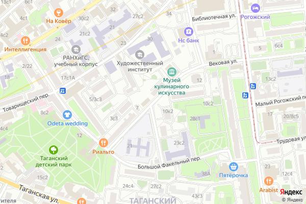 Ремонт телевизоров Большой Рогожский переулок на яндекс карте
