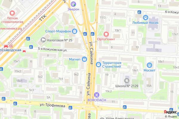 Ремонт телевизоров Улица Сайкина на яндекс карте