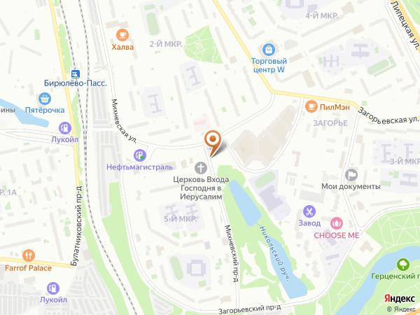 Остановка Михневский пр. в Москве