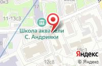 Схема проезда до компании Красная Жаба в Москве