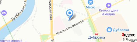 Стаген на карте Москвы