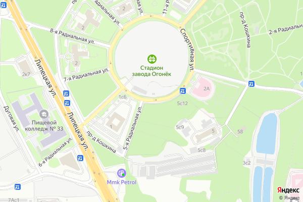 Ремонт телевизоров Улица Спортивная на яндекс карте