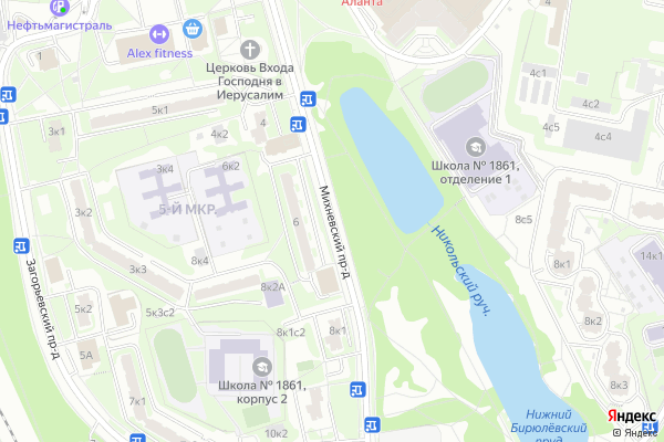 Ремонт телевизоров Михневский проезд на яндекс карте