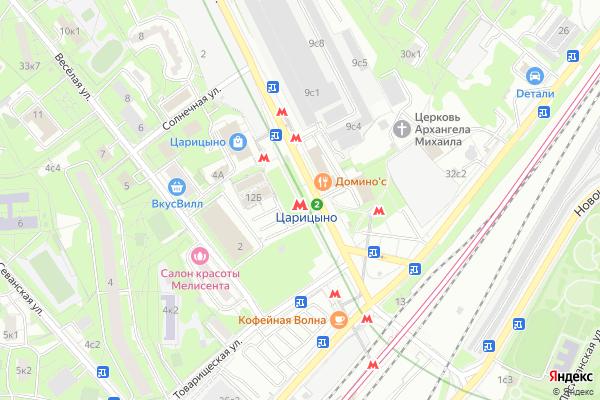 Ремонт телевизоров Метро Царицыно на яндекс карте