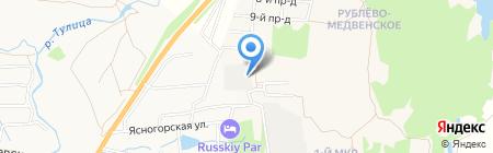 Форд на карте Глухих Полян
