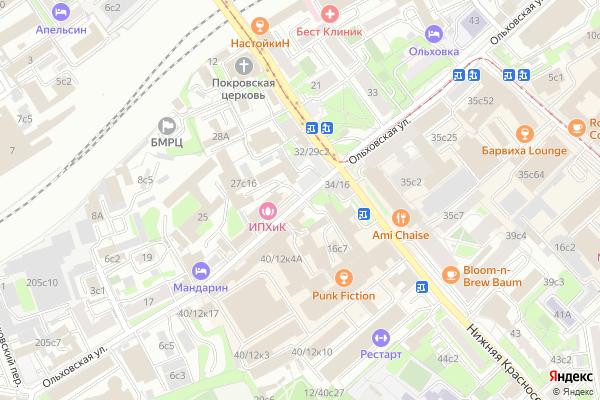 Ремонт телевизоров Улица Ольховская на яндекс карте