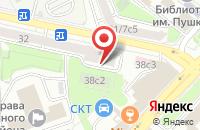 Схема проезда до компании Альфа-Инжиниринг в Москве