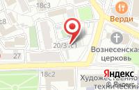 Схема проезда до компании Консонанс Холдинг в Москве
