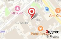 Схема проезда до компании Сервис Проект в Москве