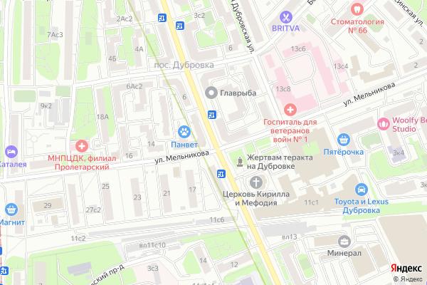 Ремонт телевизоров Улица 1 я Дубровская на яндекс карте