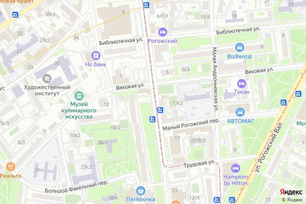 Ремонт телевизоров Улица Большая Андроньевская на яндекс карте