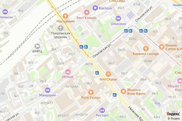 Ремонт телевизоров Улица Нижняя Красносельская на яндекс карте
