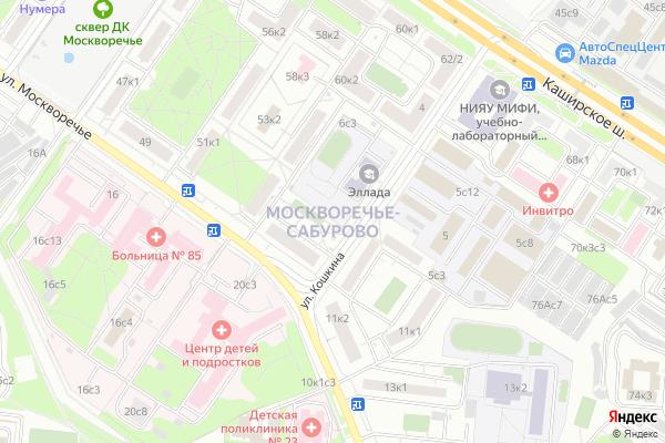 Ремонт телевизоров Район Москворечье Сабурово на яндекс карте