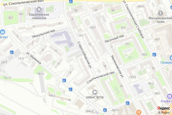 Ремонт телевизоров Улица Старослободская на яндекс карте