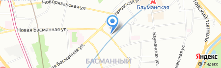 Зиракс на карте Москвы