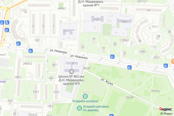Ремонт телевизоров Улица Новинки на яндекс карте