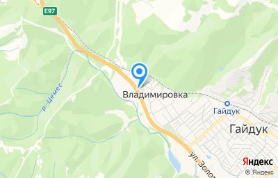 Местоположение на карте пункта техосмотра по адресу Краснодарский край, г Новороссийск, с Владимировка, ул Кирова, д 60