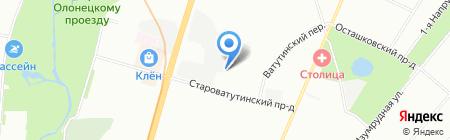 Автодормехбаза на карте Москвы