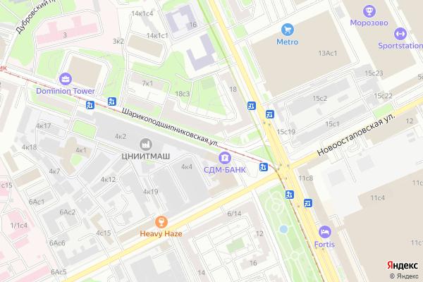 Ремонт телевизоров Улица Шарикоподшипниковская на яндекс карте