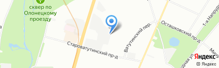 Автоферзь на карте Москвы