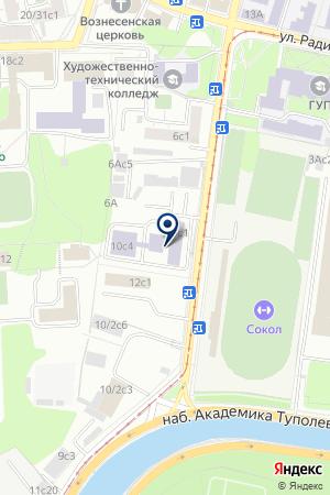 ЦЕНТР ИНФОРМАЦИОННО-АНАЛИТИЧЕСКОГО ОБЕСПЕЧЕНИЯ ГОСКОМСПОРТА РФ на карте Москвы