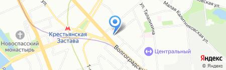Фаст Деливери на карте Москвы