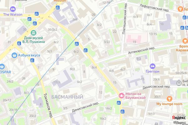 Ремонт телевизоров Улица Доброслободская на яндекс карте