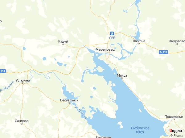 деревня Гавино на карте