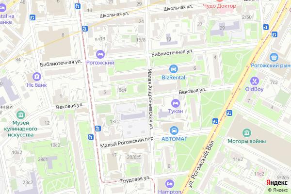 Ремонт телевизоров Улица Вековая на яндекс карте