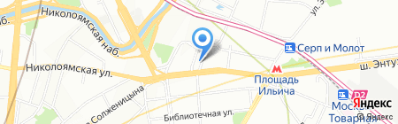 Транспортный коридор на карте Москвы
