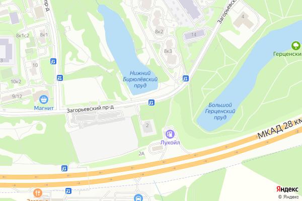 Ремонт телевизоров Загорьевский проезд на яндекс карте
