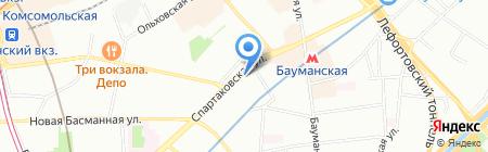 Парос на карте Москвы