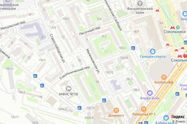 Ремонт телевизоров Улица Маленковская на яндекс карте