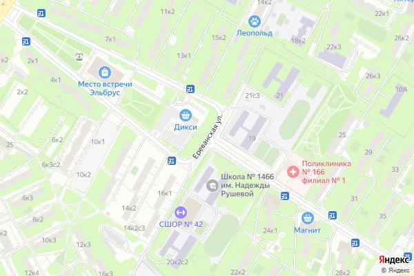 Ремонт телевизоров Улица Ереванская на яндекс карте