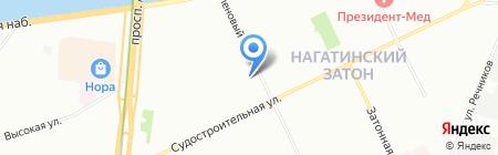 Белая ночь на карте Москвы