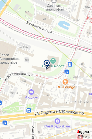 ДК СЕРП И МОЛОТ на карте Москвы
