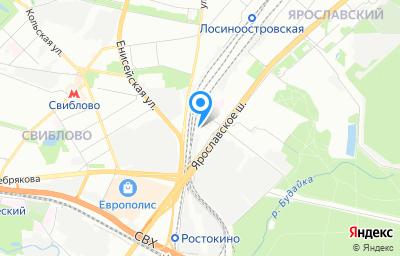 Местоположение на карте пункта техосмотра по адресу г Москва, ш Ярославское, влд 3 к 2 стр 2