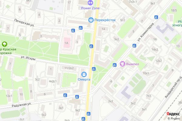 Ремонт телевизоров Улица Летчика Бабушкина на яндекс карте